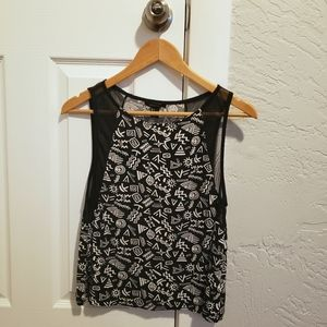 Forever 21 Pattern Tank Top